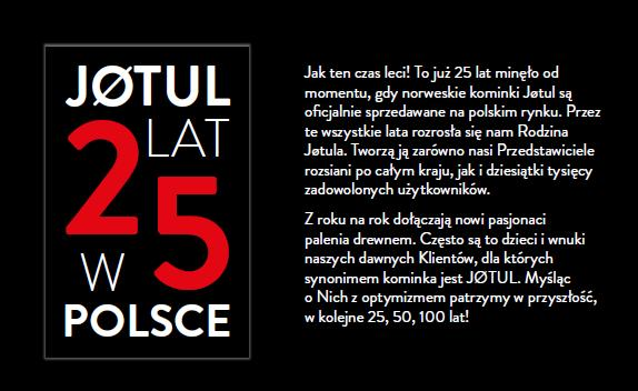 Jotul 25 lat w Polsce
